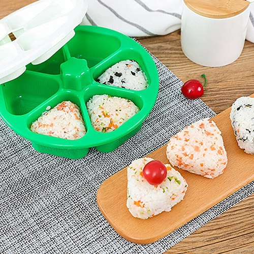 DIY Sushi Mold Onigiri Rice Ball Food Press Triangular Sushi Maker Mold Sushi Kit Japanese Kitchen Bento Accessories