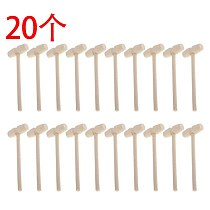 20 Pieces Wooden Crab Mallet Seafood Shellfish Wood Cracker Mini Wood Hammer Shell Cracker for Seafood Lobster Tool
