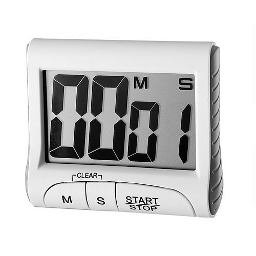 LCD Digital Display Timer Multifunctional Portable Kitchen Timer With Alarm Clock & Countdown Memory Function Cooking Timer
