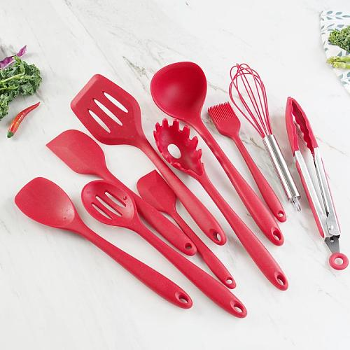 Silicone Cooking Utensils Kitchen Utensil Set Non-stick Spatula With Storage Box Kitchen Tools Kitchen Accessories Utensils