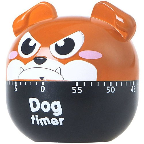 60 Minutes Kitchen Timer Cute Cartoon Dog Shape Timers Mechanical Manual Timer For Home Baking Cooking Sleep