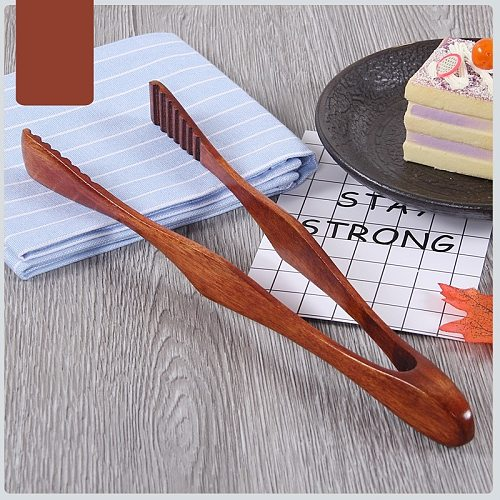 1 Pc Bamboo Cooking Kitchen Tongs Food BBQ Tool Salad Bacon Steak Bread Cake Wooden Clip Home Kitchen Accessories Cocina