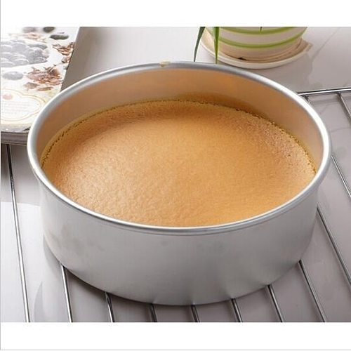 2 /4  Aluminum Alloy Round Sandwich Cake Baking Tin Pan Mold Mould Kitchen Bakeware DIY Tool