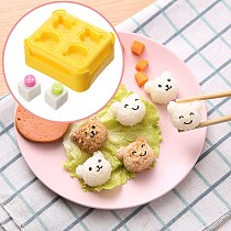Bear Model DIY Rice Sushi Mold Mould Creative Funny Party Rice Ball Mold Sushi Decoration Cute Embossing Tool bento accessories