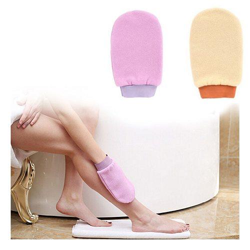Shower Spa Exfoliator Two-sided Bath Glove Body Cleaning Scrub Dead Skin Removal