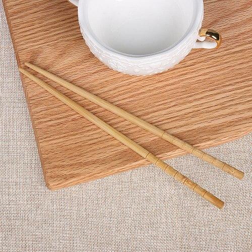3 Pairs Natural Bamboo Wood Chopsticks Healthy Chinese Carbonization Reusable Kitchen Sushi Food Stick Tableware Sushi Chopstick
