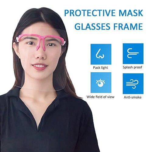 Kitchen Safety Anti-Oil Splash Face Shield Fog-proof PET Visor Anti Oil Fume Protective Face Shields Gadgets cocina Fast Ship