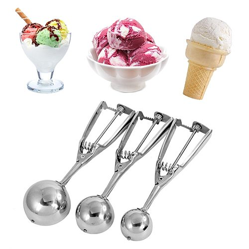 1pcs Kitchen Utensils Stainless Steel Mash Potato Ice Cream Spoon Scoops  Ice Cream Tools Kitchen Gadgets
