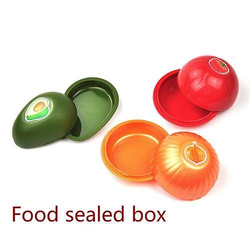 1/3pc Food Sealed Box Onion Tomato Avocado Fresh Box Vegetable Fresh Container Portable Food Storage Case Kitchen Accessories