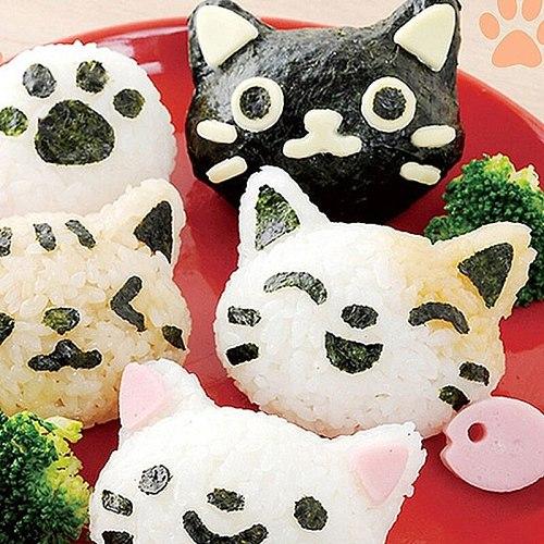 DIY Japanese Sushi Rice Ball Press Mold Facial Expression Modeling Kitchen Tools Sushi Maker Bento Accessories