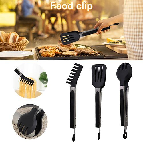 Grill Cooking Tongs Stainless Steel Salad Pasta Serving Tongs Anti-Scalding Heavy Duty Multipurpose Spatula Tongs Kitchen Tools