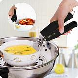 Hot Bowl Holder Dish Clamp Pot Pan Hot Dish Plate Bowl Clip Retriever Tongs Silicone Handle Kitchen Tool For Kitchen Convenience