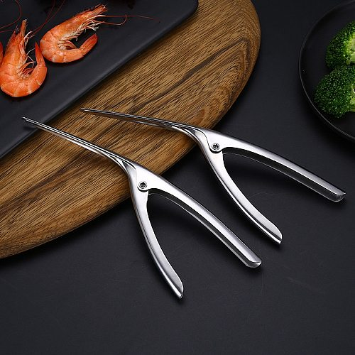 Prawn Shrimp Fishing Knife Lobster Shell Remover Peel Device Kitchen Seafood Tools Prawn Stainless Steel Shrimp Peeler