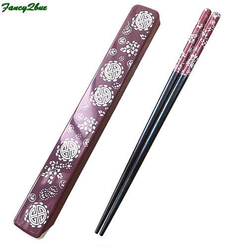 Chinese-Style Fashion Bamboo Gifts Chopsticks Friendly Tableware Set Portable Chopsticks Gift Box Chopstick Holder Rest