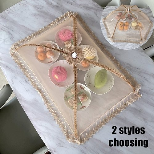 New Umbrella Style Food Covers Anti Fly Mosquito Meal Cover Lace Table Large Table Cover Home Gadgets