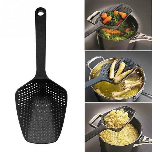 1Pc Nylon Strainer Scoop Colander Kitchen Cookware Accessories Gadgets Drain Veggies Water Scoop Portable Home Cooking Tools