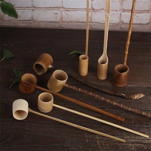 Handmade Bamboo Water Spoon Tea Spoon Long Handle Wine Scoop Water Scoop Chinese Kongfu Tea Ceremony Teaware Accessories
