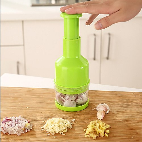 New Stainless Steel Hand Press Type Garlic Crusher Multifunctional Ginger Garlic Chopper Crushed Cut Onions,Kitchen accessories