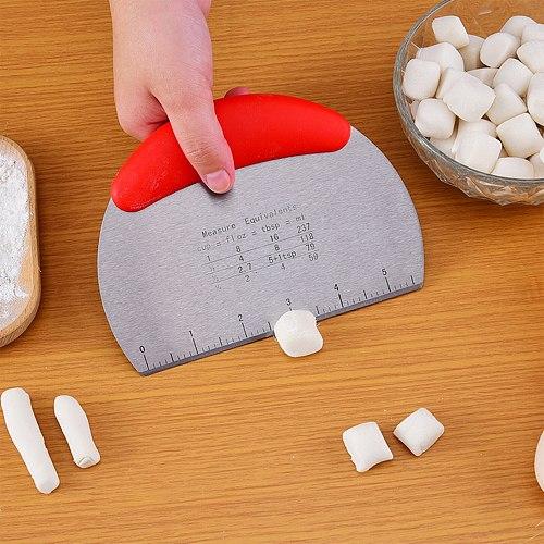 Semicircular Stainless Steel Bench Scraper Dough Bowl Spatula Food-safe Dough Cutter Flexible Scraper Bench Cutters