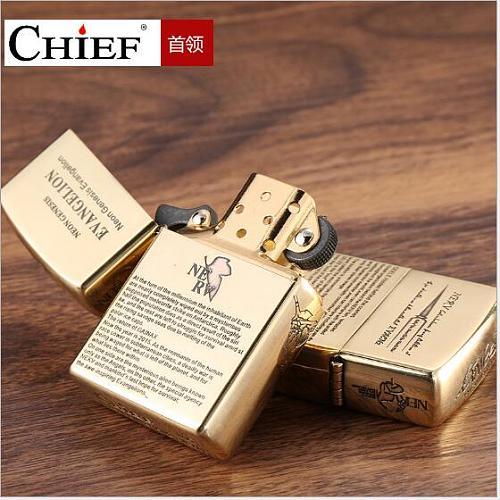 CHIEF Original genuine kerosene lighter  windproof oil lighter, high-grade gift.