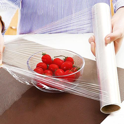 Disposable Fruits Vegetables Plastic Saran Wrap Fresh-keeping Food Storage Clings Film Kitchen Helpers Food Stretch Cover