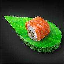200Pcs/pack Green Leaf Japanese Food Sushi Decoration Leaves Sushi Grass Creative Plastic Leaf Sashimi Decor Tools