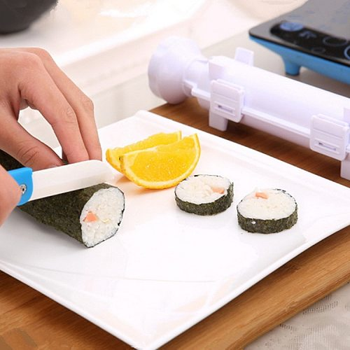 Sushi Maker Roller Rice Mold Sushi Bazooka Vegetable Meat Rolling Tool DIY Sushi Making Machine Kitchen Sushi Tool