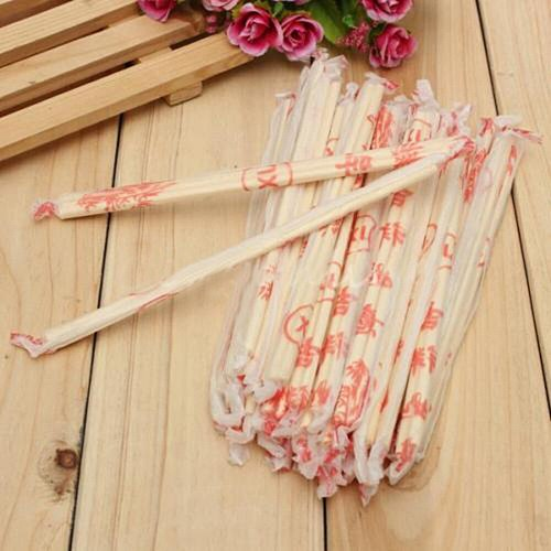 40 Pairs Chinese Chopsticks Disposable Bamboo Wooden Chopsticks Hashi Individually Wrapped Bamboo Wooden Chopsticks