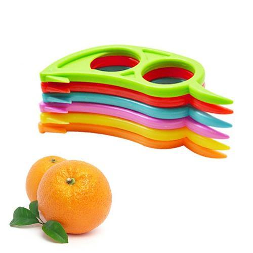 Plastic Easy Slicer Peeler Kitchen Gadget Tangerine Skin Remover Opener Knife Cooking Tool Kitchen Accessories