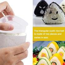 2Pcs/Set Sushi Maker Mold Sushi Kit DIY Sushi Mold Onigiri Rice Ball Food Press Triangular Japanese FOOD Kitchen Accessories