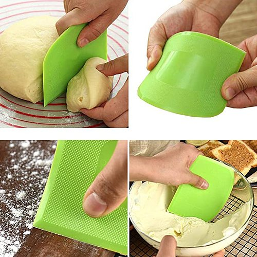 202 2pc Plastic Cake Cream Spatula Dough Butter Batter Scraper Baking Tools For Home Baking Nough Cutting Tools Kitchen Gadgets