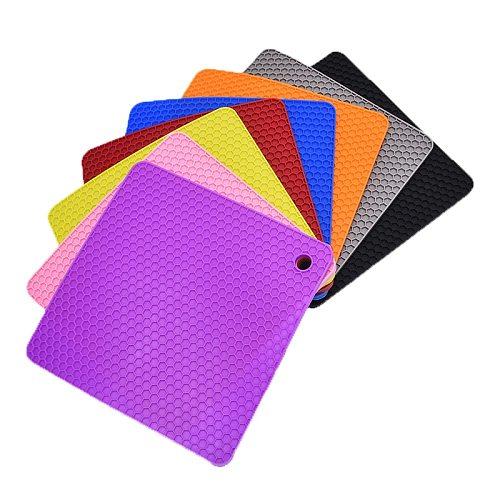 Silicone Pot Holder, Trivet Mat, Jar Opener, Spoon Rest Non Slip, Flexible, Durable, Heat Resistant Hot Pads Thicker