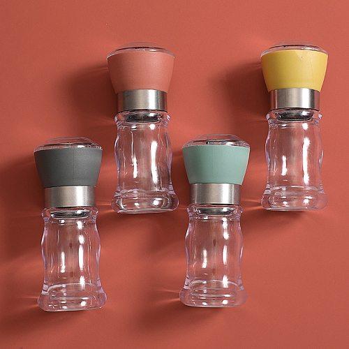 Manual salt and pepper grinder set spice herb food grain mill grinders ceramic core kitchen cooking grind tool seasoning jar