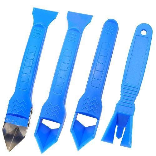 Door Silicone Sealant Scraper Right angle Caulk Tool Kit Spatula for Window Caulking Finishing Sealant Removal