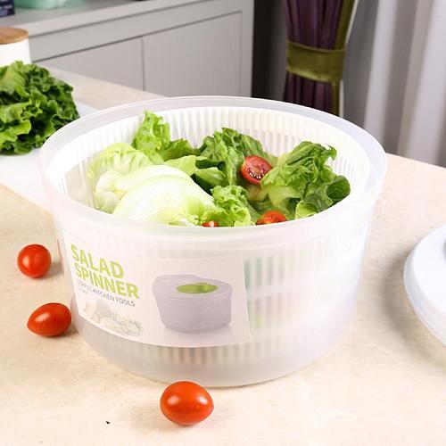 Manual Plastic Vegetable Dehydrator Plastic Big Salad Spinach Leaf Dryer Water Spinner Dryer Drainer Kitchen Salad Accessories