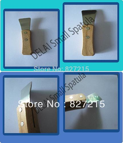 Stainless Steel Industrial Small spatula Scoop with Wooden Handle Stretch Ceiling Film Accessories for welding harpoon