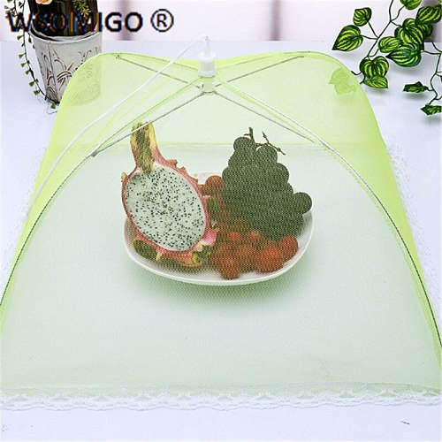 1pcs Kitchen Accessories Square Dish Cover Food Cover Mesh Folding Table Cover Fly Cover Kitchen Gadget Insulation Dish Cover-D