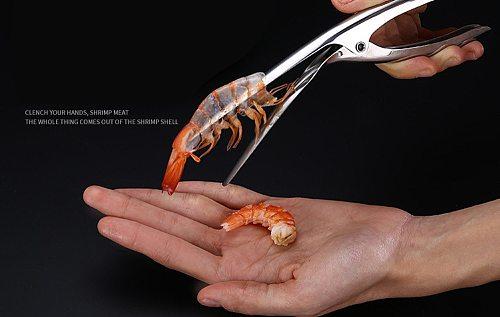 Stainless Steel Prawn Peeler Shrimp Deveiner Peel Device Creative Kitchen Tools Gadgets Cooking Seafood Tools