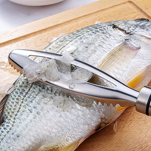 Fish Clean Scales Kitchen Tools Fast Remove Fish Skin Brush Stainless Steel Fish Scales Graters Scraper Kitchen Cooking Tools