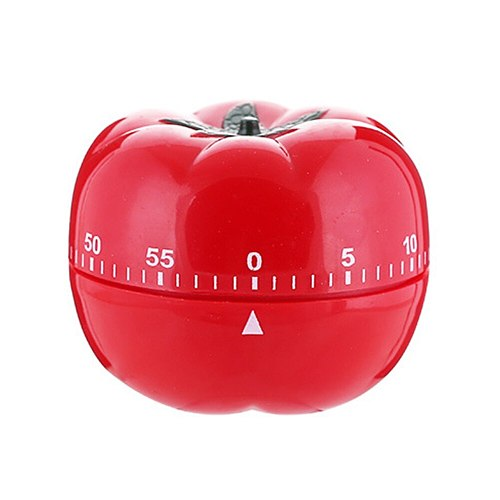 Practical Durable Home Plastic Tomato Shape Household Fashion Easy Operate Cooking Red Kitchen Timer