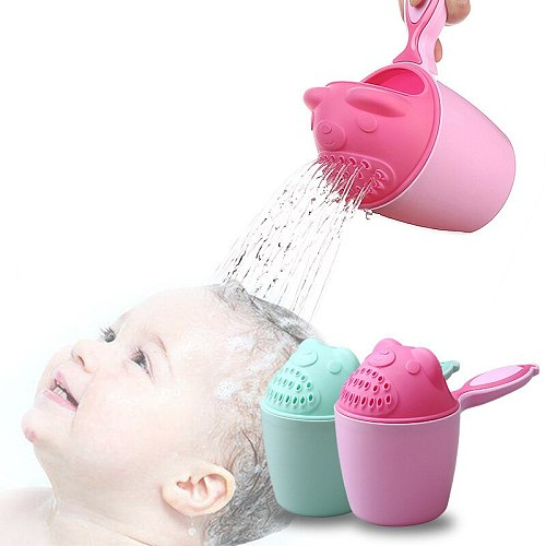 New Arrival Baby Shower Water Spoon Baby Shower Bath Children Cartoon Bear Shampoo Cup Kids Play Water Scoop Shampoo Cup