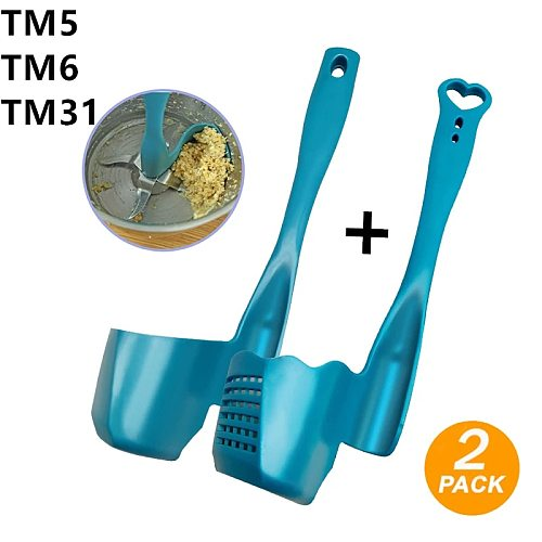 2pcs/1pcs Cake Tools Thermomix TM6/TM5/TM31 Rotating for Kitchen Multi-Function Rotary Mixing Drums Spatula