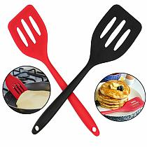1PC Non Stick Silicone Slotted Turners Egg Fish Frying Tools Utensils Scoop Kitchen Gadgets Fried Pan Spatula Cooking Shove Y9N5