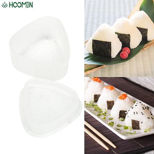 2Pcs/set Sushi Origin Mold DIY Transparent Rice Ball Maker Japan Triangle Sushi Mold Bento Accessories