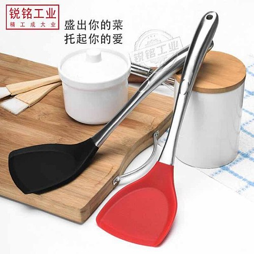1pc High Quality Stainless Steel Handle Not Sticking Special Chinese Shovel Stir-fry Tools Modern Cooking Kitchen Utensils