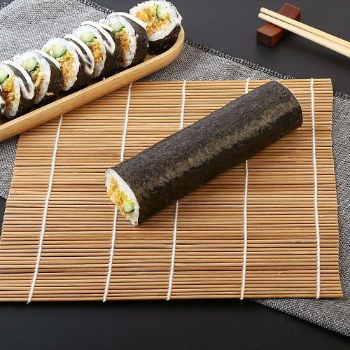 24*24CM Sushi Tool Bamboo Rolling Mat DIY Onigiri Rice Roller Chicken Roll Hand Maker Kitchen Japanese Sushi Maker Tools