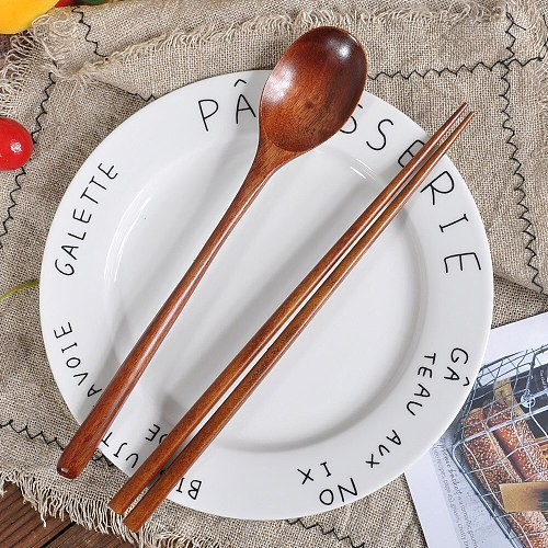Wooden Spoon Chopsticks Kitchen Accessories Bamboo Cooking Tool Wood Soup-Teaspoon Chopstick Tableware для кухни Dropshipping