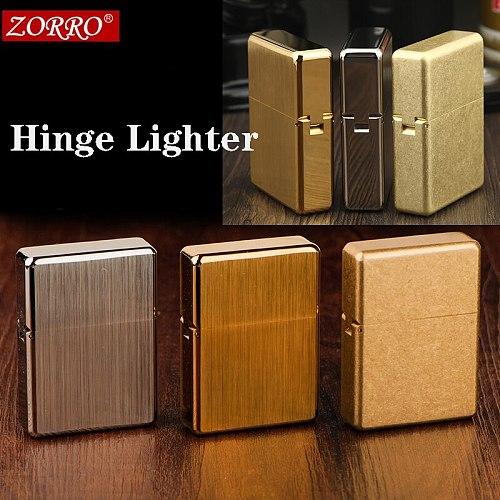 zorro Pure copper TRENCH  armor kerosene lighter waterproof sealed oil. thick heavy cigarette lighter collection 146g