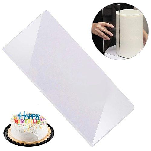 Cake Cream Transparent Scraper Acrylic Buttercream Scraper Smoother Cake Baking Tools Cake Scraper For Kitchen Baking Supplies