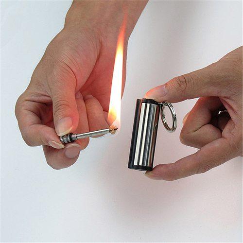 Instant Free Fire Metal Retro Match Lighter Flint Fire Starter Kerosene Creative Portable Outdoor Survival Safety Tools Camping